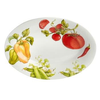 Italiano Vegetables Oval Ceramic Serving Platter view 2