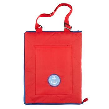 "50""x60"" Red/Blue Anchor Beach Blanket and Tote"
