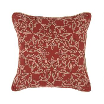 "The Grainhouse™ 20"" Red Metallic Medallion Square Throw Pillow"