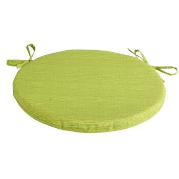 Solid Green Indoor/Outdoor Round Bistro Seat Pad