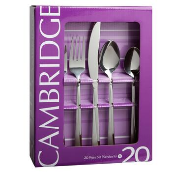 Cambridge;reg; Dora Stainless Steel Flatware Set, 20-Piece view 2