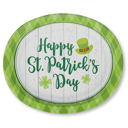 Happy St. Patrick's Day Lucky Day Oval Paper Plates 20-Count view 1