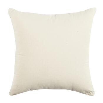 Beige Floral Leaf Square Throw Pillow view 2