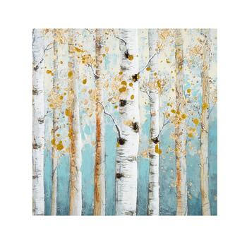"""30"""" Gold Foil Birch Trees Canvas Wall Art - Christmas Tree Shops and ..."""