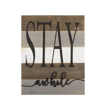 "The Grainhouse™ 16""x20"" ""Stay Awhile"" Wood Wall Decor"