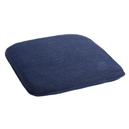 Solid Dark Blue Woven Indoor/Outdoor Squared Seat Pad view 1
