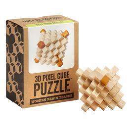 f10dda6919a 3D Pixel Cube Puzzle trade  Wooden Brain Teaser
