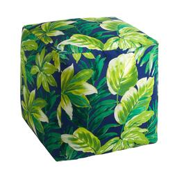 "14"" Palm Leaves Indoor/Outdoor Square Ottoman"