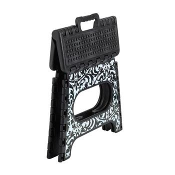 Black/White Floral Folding Step Stool view 2