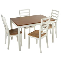 The Grainhouse™ Dining Table and Ladder Back Chairs Set, 5-Piece