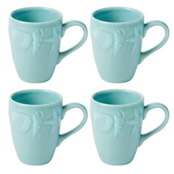 Coastal Living Seascapes™ Shell Embossed Mugs, Set of 4