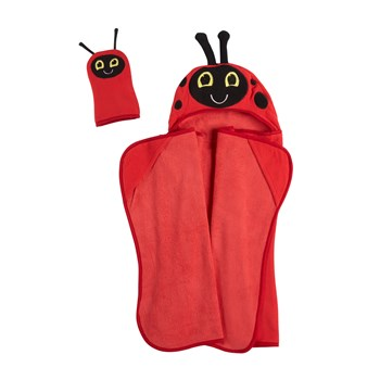 Children's Ladybug Hooded Towel view 1