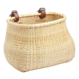 Handcrafted Rattan Bicycle Basket with Straps