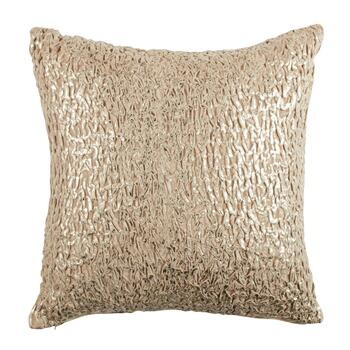 Embellished Metallic Velvet Square Throw Pillow