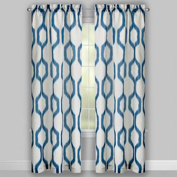 Perfect Window Navy/White Herschel Window Curtains, Set of 2 view 2
