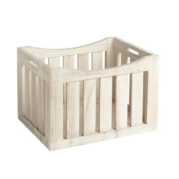 The Grainhouse™ Vertical Slatted Wood Crate