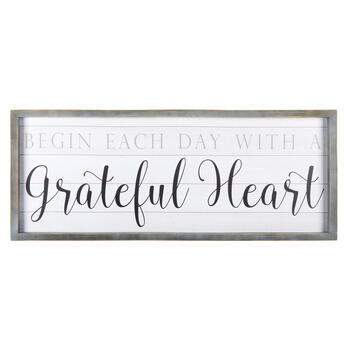 "20""x50"" ""A Grateful Heart"" Hanging Decor view 1"