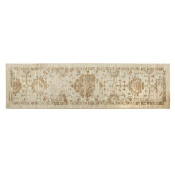 "Mohawk Home 22""x84"" Beige Faded Medallion Runner Rug"