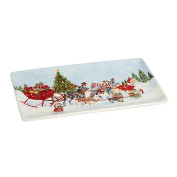Sled Dogs Rectangular Tray
