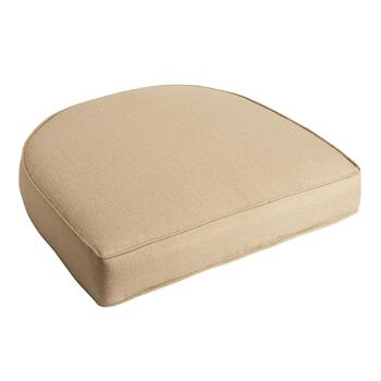 Solid Beige Indoor/Outdoor Gusset Seat Pad
