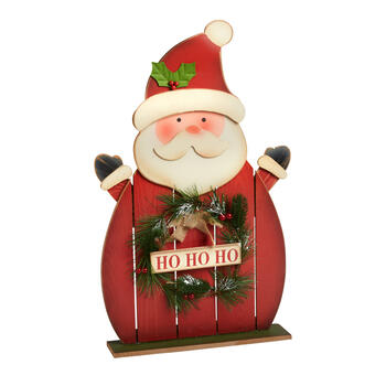 """Ho Ho Ho"" Santa Wood Plank Table Sitter view 1"