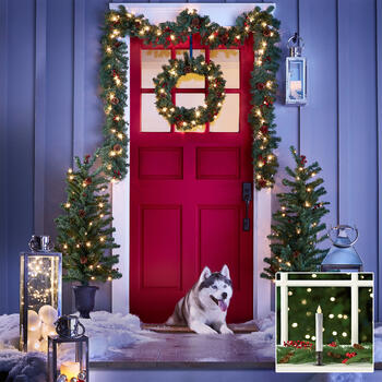 Christmas Entryway Set & Candlestick Lights view 1