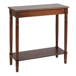 Walnut Rectangular Console Table