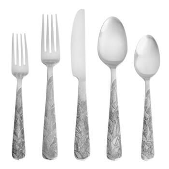 Cambridge® Platano Satin Leaf Flatware Set, 20-Piece
