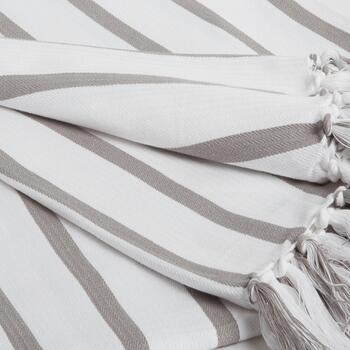 "50""x60"" Stripe Fringe Throw Blanket view 2"