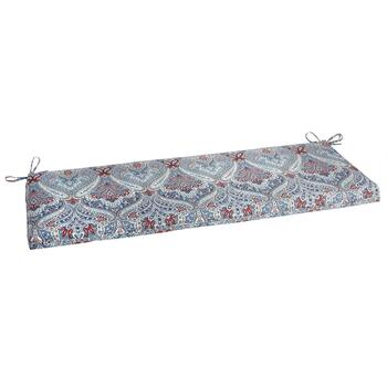 Paisley Blue Indoor/Outdoor Bench Seat Pad