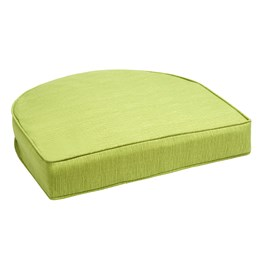 Solid Green Indoor/Outdoor Gusset Seat Pad