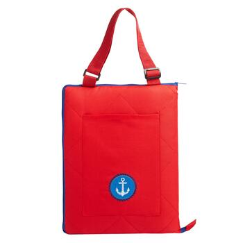 Red/Blue Anchor Foldable Outdoor Blanket Tote view 2
