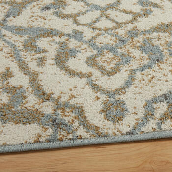"6'6""x9'4"" Blue/Ivory Floral Frieze Area Rug view 2"