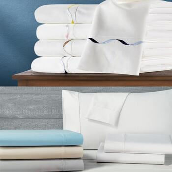 1200 Count Solid and Elle Embroidered Sheet Sets