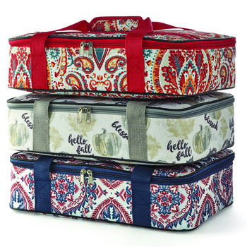 Harvest Typography Insulated Casserole Carrier