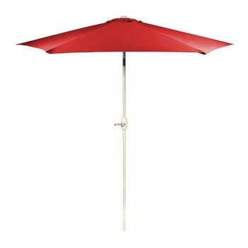 9' Red Crank/Tilt Market Umbrella