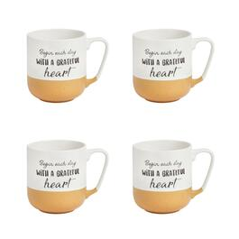 "The Grainhouse™ ""A Grateful Heart"" Mugs, Set of 4"
