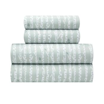 Flannel Rooster™ Warm Green/White Tree Branch Sheet Set