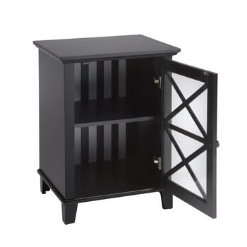 Rapture Black 1-Door Storage Cabinet view 2