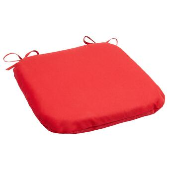 Solid Red Indoor/Outdoor Squared Seat Pad