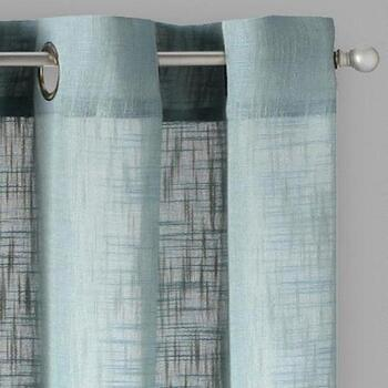 Milo Solid Grommet Window Curtains, Set of 2