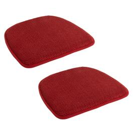 Solid-Colored Honeycomb Memory Foam Chair Pads, Set of 2