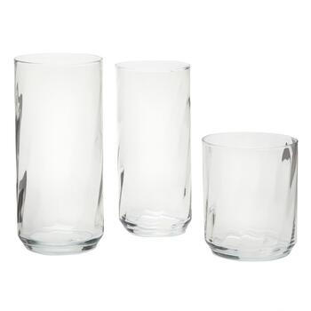 Riviera Swirl Glass Drinkware Set, 18-Piece