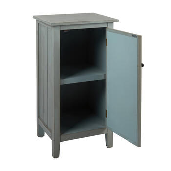 Bliss Mirrored 1-Door Storage Cabinet view 2