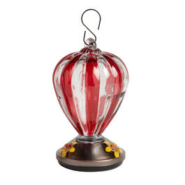 "8"" Striped Hanging Hummingbird Feeder view 1"
