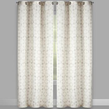 Regal Crest Embroidered Faux Linen Window Curtains, Set of 2 view 2