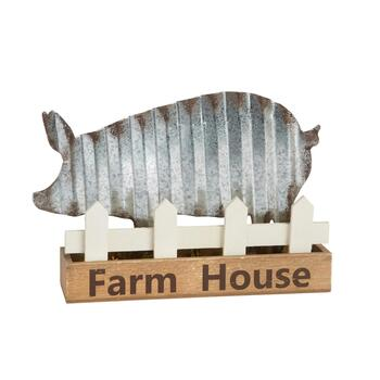 "7"" ""Farm House"" Pig Table Sitter"