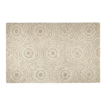 5'x8' Blush/Gray Medallion Wool Area Rug