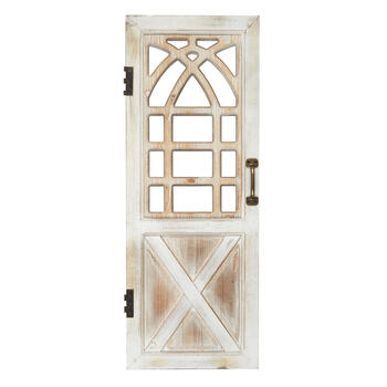 "The Grainhouse™ 35"" Weathered Wood Decorative Door Wall Decor view 1"