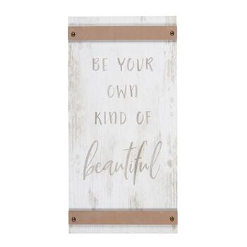 "12""x24"" ""Be Your Own Kind of Beautiful"" Wood Wall Decor"